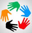 Hands of friendship vector image vector image