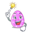 have an idea color the easter eggs isolated mascot vector image