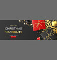 holiday banner for christmas sale vector image vector image
