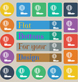 Hot air balloon icon sign Set of twenty colored vector image