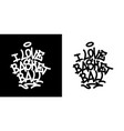 i love basketball graffiti tag in black over vector image
