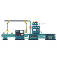 industrial factory construction equipment vector image