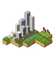 Isometric city center vector image vector image