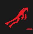 jumping frog vector image