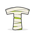 Letter T Mummy Typography icon in bandages vector image vector image