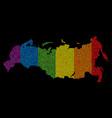 lgbt pixel russia map vector image