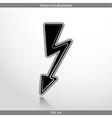 lightning web flat icon vector image