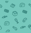meat color outline isometric pattern vector image
