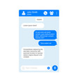 messenger chat page flat background vector image vector image