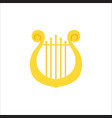 music school logo lyre or cither icon vector image vector image