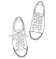 Outline sneakers vector image vector image