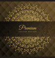 premium mandala golden background design vector image vector image