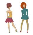 romantic fashion girls vector image