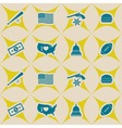 Seamless background with usa icons vector image