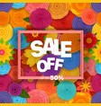 season sale off concept background vector image vector image
