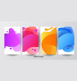 set of liquid gradient fluid banners template vector image vector image
