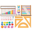 set of math object vector image