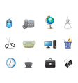 set of office tools icon vector image vector image