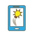 smartphone and bulb light icon vector image vector image