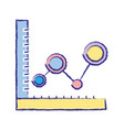 statistics graphic diagram with data line vector image vector image