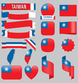 Taiwan flags vector image vector image