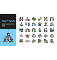 team work icons business success concept vector image