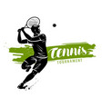 tennis banner sport concept vector image vector image