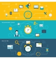 Time management banner set vector image vector image