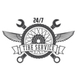 tire service vector image