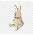 toy bunny icon cartoon style vector image vector image