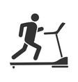 treadmill glyph icon vector image vector image