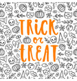 trick or treat halloween poster vector image vector image