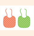 two baby aprons vector image vector image