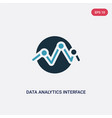 two color data analytics interface connected vector image vector image