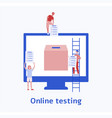 voting people and computer screen flat vector image