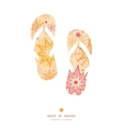 warm stars flip flops silhouettes pattern frame vector image vector image