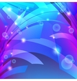 Abstract background with waves and glowing dots vector image
