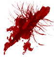 abstract splatter red color background design vector image