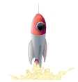 Rocket space ship isolated vector image