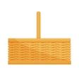 Empty wicker basket icon vector image