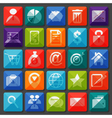 Flat icons collection for Business item vector image