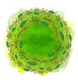 Green watercolor banner vector image
