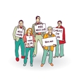 Group business people unemployed looking for job vector image