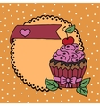 High quality of cake with cherry and vector image