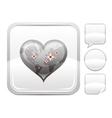 Happy Valentines day romance love World map heart