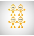 abstract yellow men on a white background vector image vector image