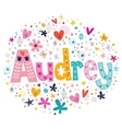 Audrey female name decorative lettering type vector image