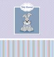 Baby birth card vector image