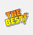 best cartoon text sticker vector image vector image