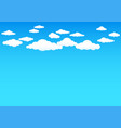blue sky and cartoon clouds vector image
